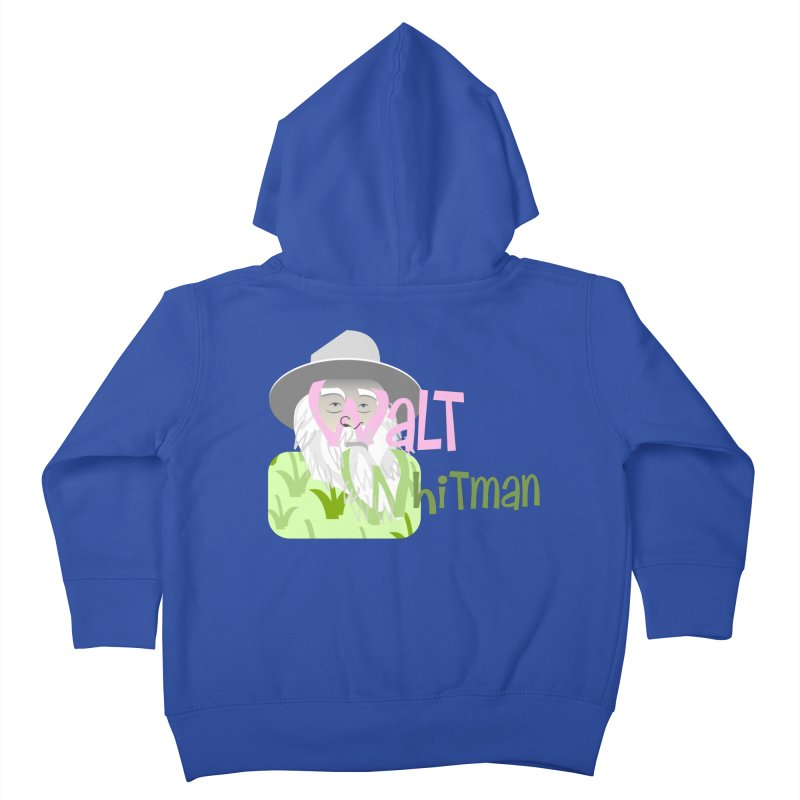 Walt Whitman Kids Toddler Zip-Up Hoody by PickaCS's Artist Shop