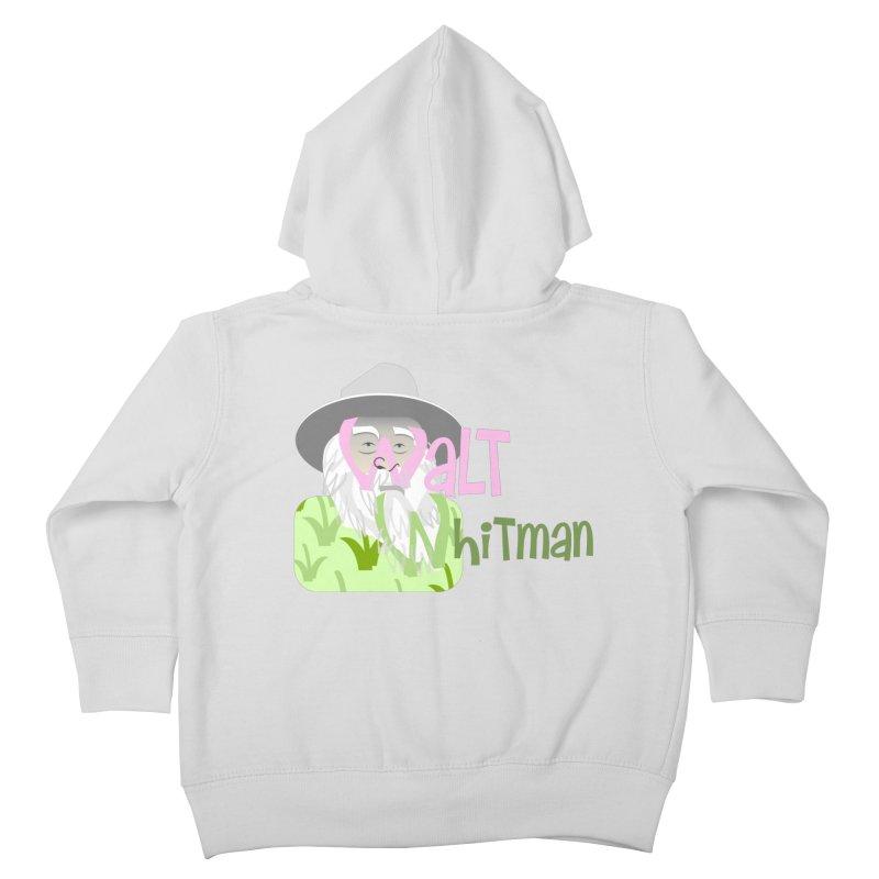 Walt Whitman Kids Toddler Zip-Up Hoody by PickaCS's Artist Shop