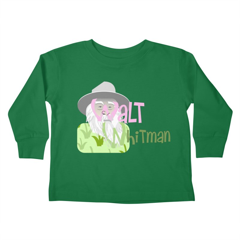 Walt Whitman Kids Toddler Longsleeve T-Shirt by PickaCS's Artist Shop