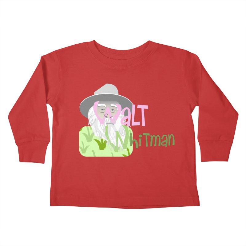 Walt Whitman Kids Toddler Longsleeve T-Shirt by PickaCS's Artist Shop