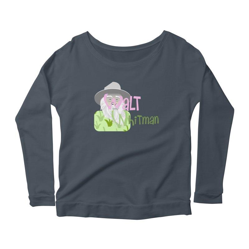 Walt Whitman Women's Scoop Neck Longsleeve T-Shirt by PickaCS's Artist Shop