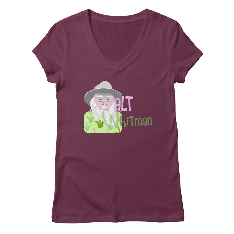 Walt Whitman Women's Regular V-Neck by PickaCS's Artist Shop
