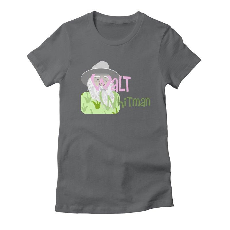 Walt Whitman Women's Fitted T-Shirt by PickaCS's Artist Shop