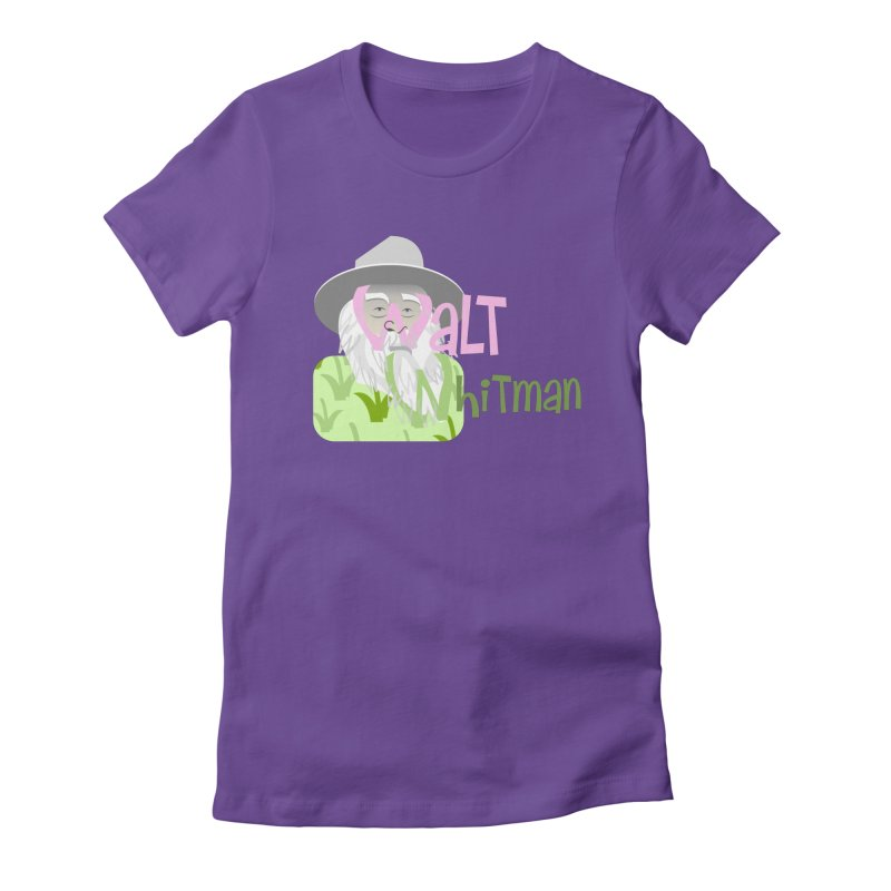 Walt Whitman Women's Fitted T-Shirt by PickaCS's Artist Shop