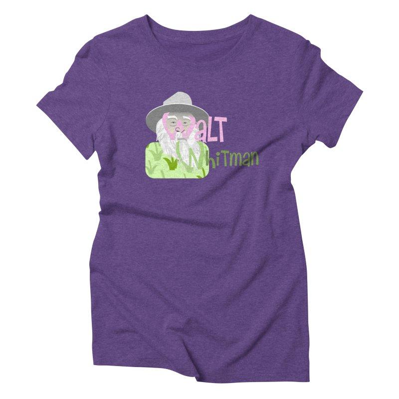 Walt Whitman Women's Triblend T-Shirt by PickaCS's Artist Shop