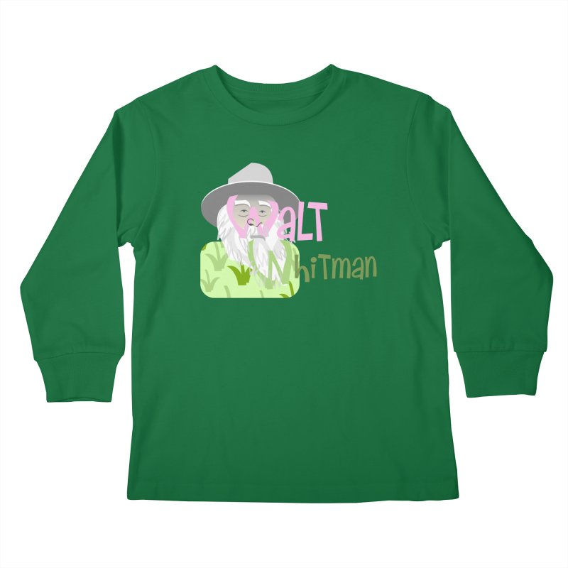 Walt Whitman Kids Longsleeve T-Shirt by PickaCS's Artist Shop