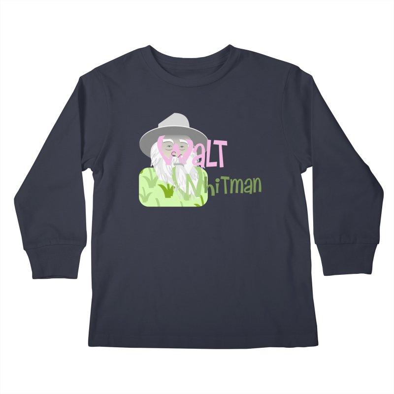 Walt Whitman Kids Longsleeve T-Shirt by PickaCS's Artist Shop