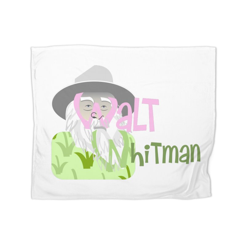 Walt Whitman Home Fleece Blanket Blanket by PickaCS's Artist Shop