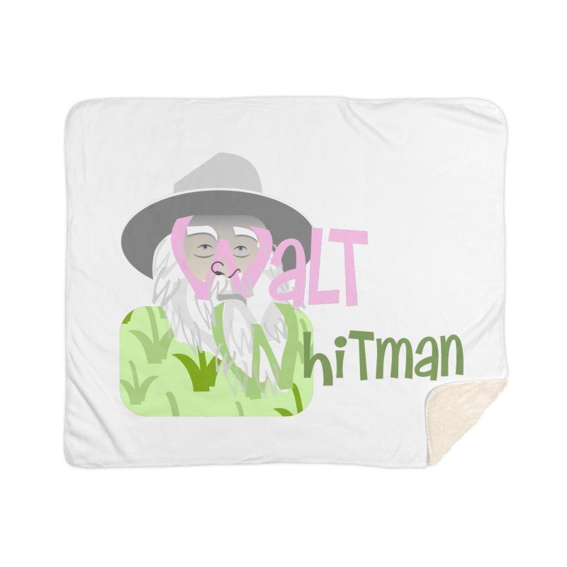Walt Whitman Home Sherpa Blanket Blanket by PickaCS's Artist Shop