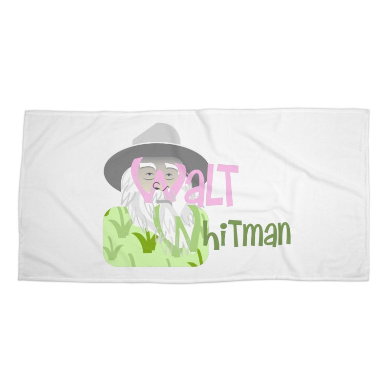 Walt Whitman Accessories Beach Towel by PickaCS's Artist Shop