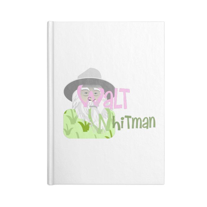 Walt Whitman Accessories Lined Journal Notebook by PickaCS's Artist Shop
