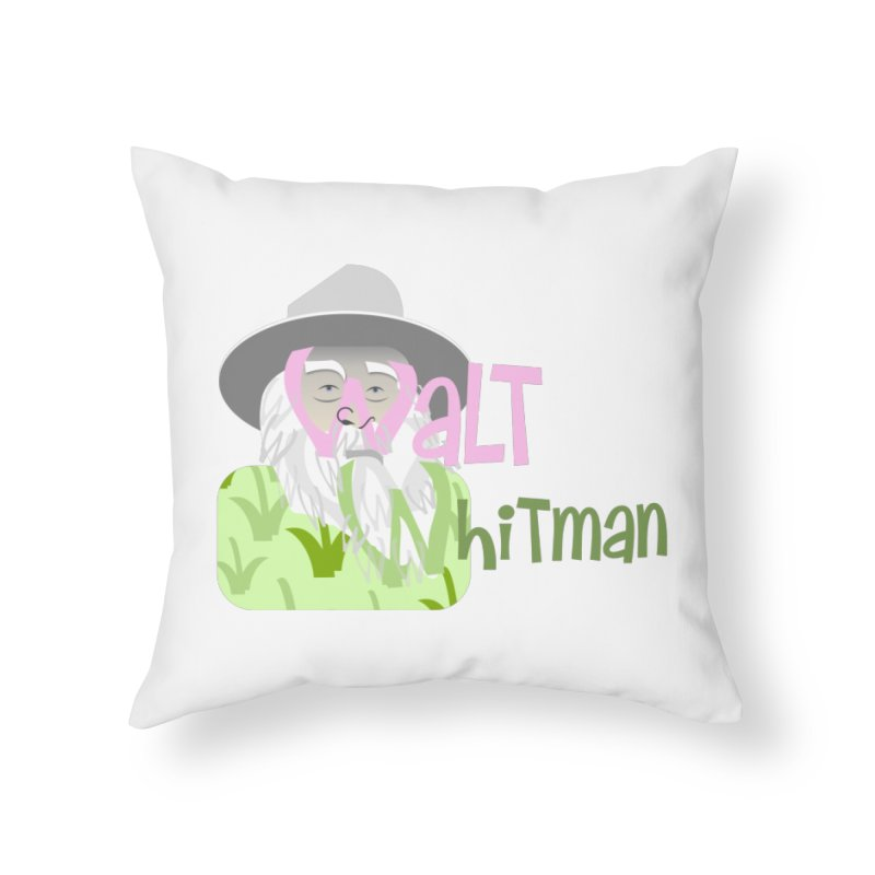 Walt Whitman Home Throw Pillow by PickaCS's Artist Shop