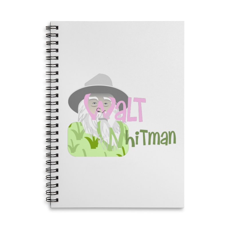 Walt Whitman Accessories Lined Spiral Notebook by PickaCS's Artist Shop