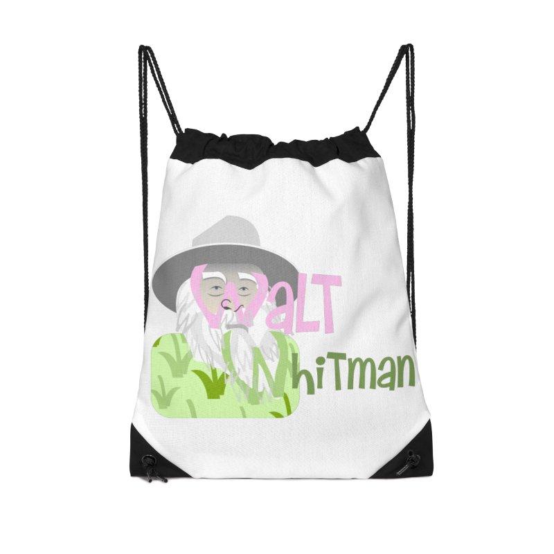 Walt Whitman Accessories Drawstring Bag Bag by PickaCS's Artist Shop