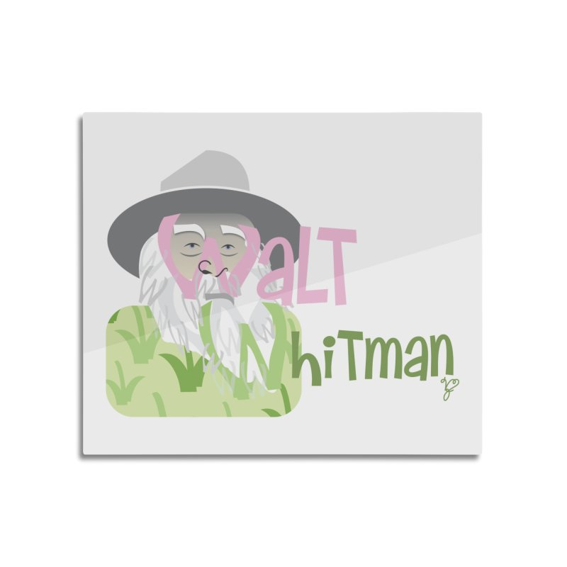 Walt Whitman Home Mounted Aluminum Print by PickaCS's Artist Shop