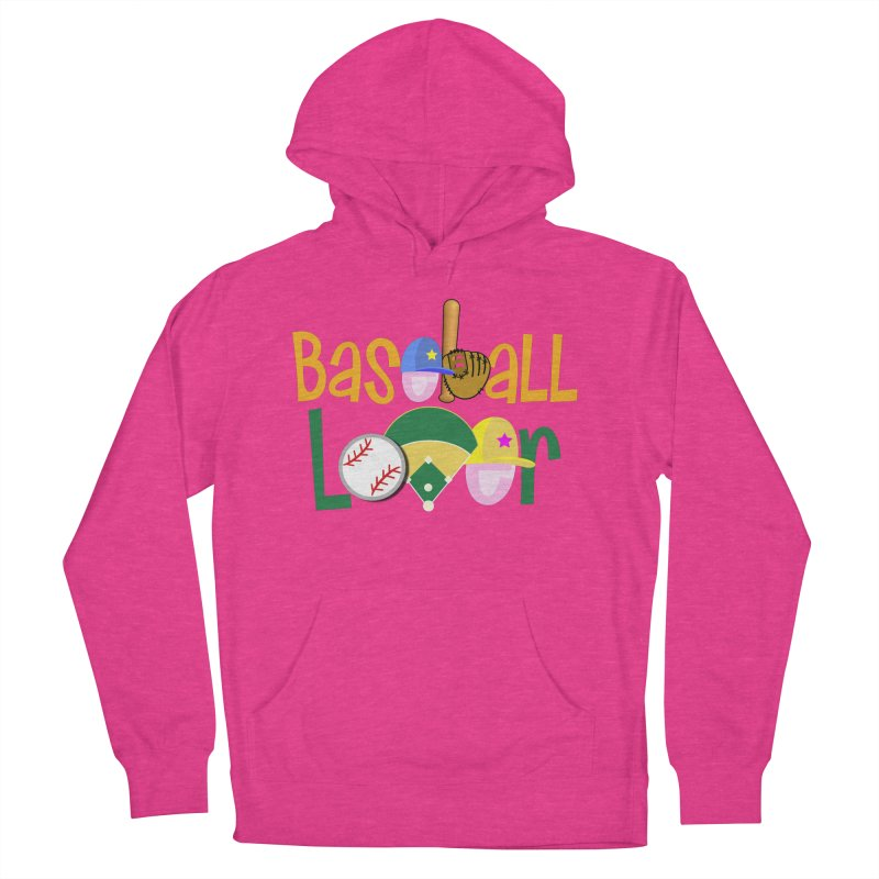 Baseball Lover Women's French Terry Pullover Hoody by PickaCS's Artist Shop
