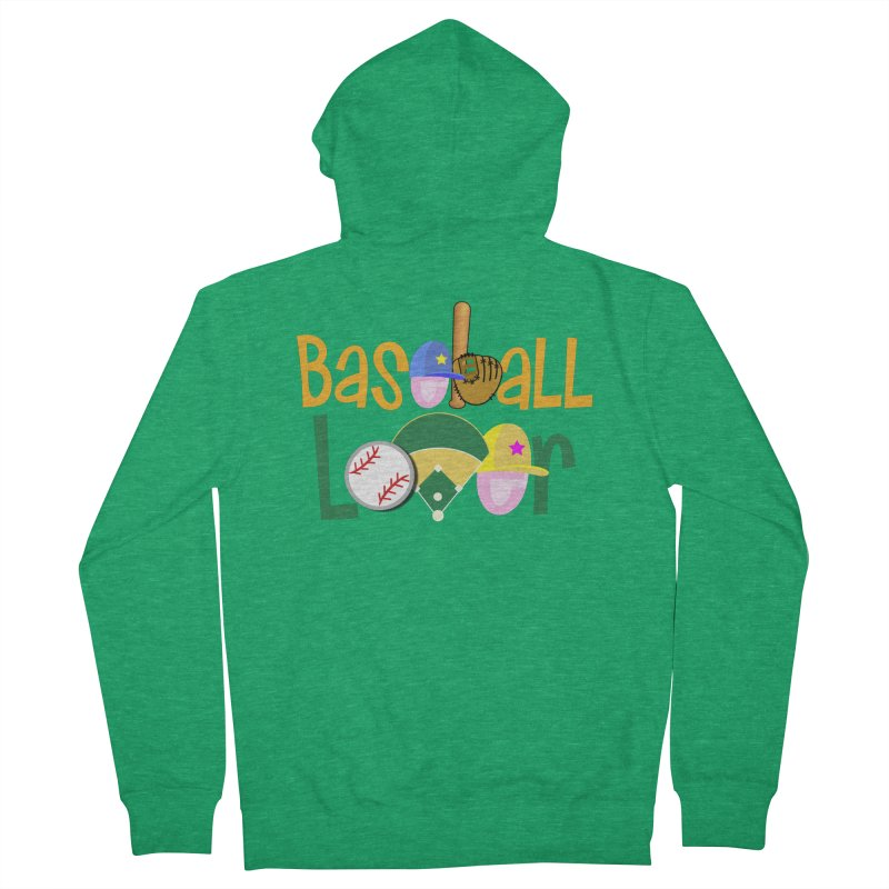 Baseball Lover Men's French Terry Zip-Up Hoody by PickaCS's Artist Shop