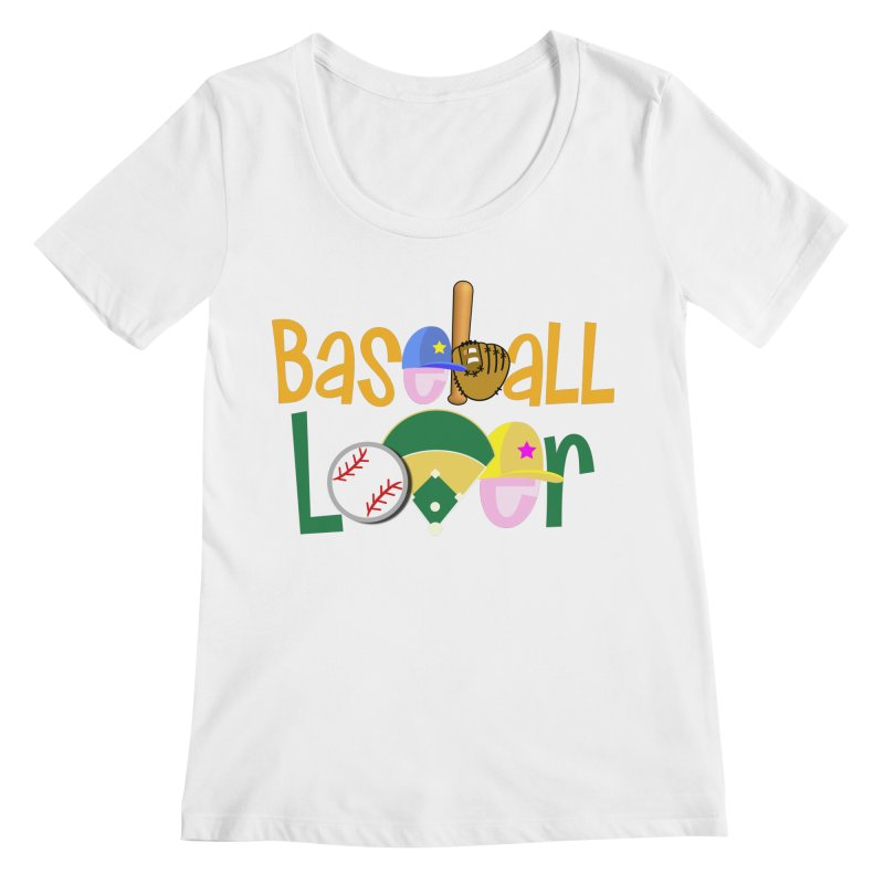 Baseball Lover Women's Regular Scoop Neck by PickaCS's Artist Shop