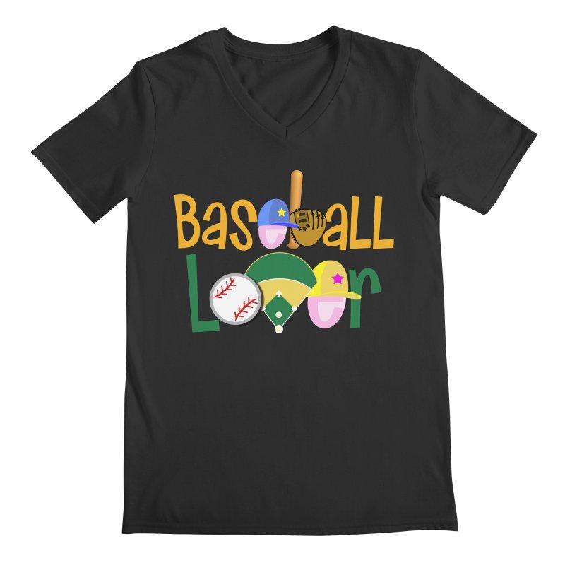 Baseball Lover Men's Regular V-Neck by PickaCS's Artist Shop