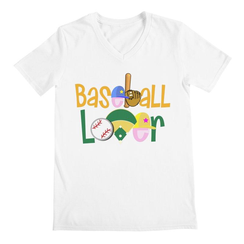 Baseball Lover Men's V-Neck by PickaCS's Artist Shop