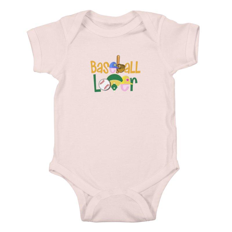Baseball Lover Kids Baby Bodysuit by PickaCS's Artist Shop