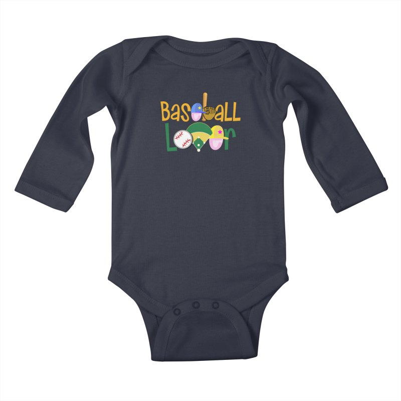Baseball Lover Kids Baby Longsleeve Bodysuit by PickaCS's Artist Shop