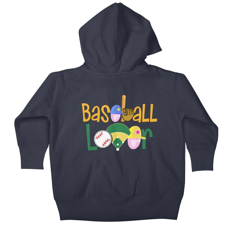 Baseball Lover Kids Baby Zip-Up Hoody by PickaCS's Artist Shop