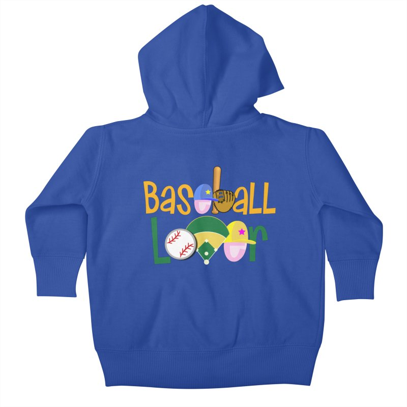 Baseball Lover Kids Baby Zip-Up Hoody by PickaCS's Artist Shop