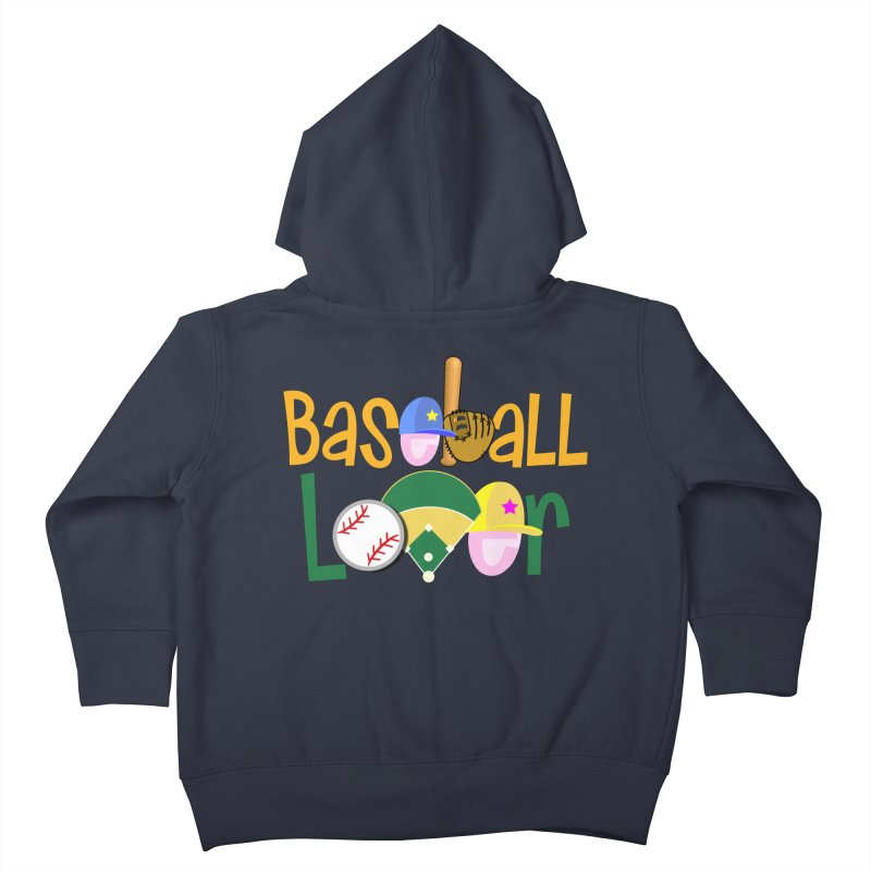 Baseball Lover Kids Toddler Zip-Up Hoody by PickaCS's Artist Shop