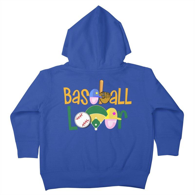 Baseball Lover Kids Toddler Zip-Up Hoody by PickaCS's Artist Shop