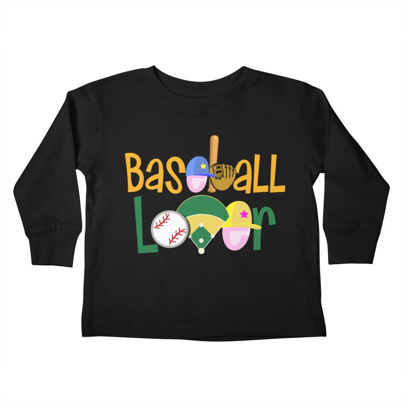 Baseball Lover Kids Toddler Longsleeve T-Shirt by PickaCS's Artist Shop