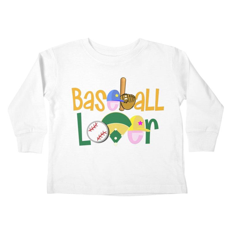 Baseball Lover Kids Toddler Longsleeve T-Shirt by PickaCS's Artist Shop