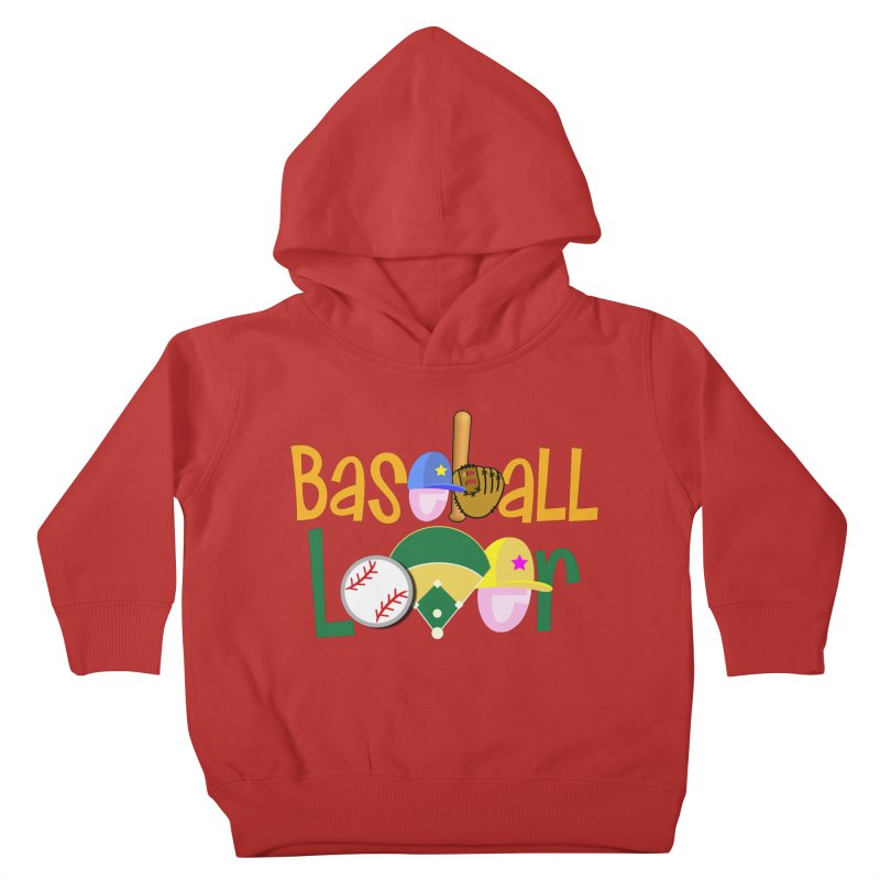Baseball Lover Kids Toddler Pullover Hoody by PickaCS's Artist Shop