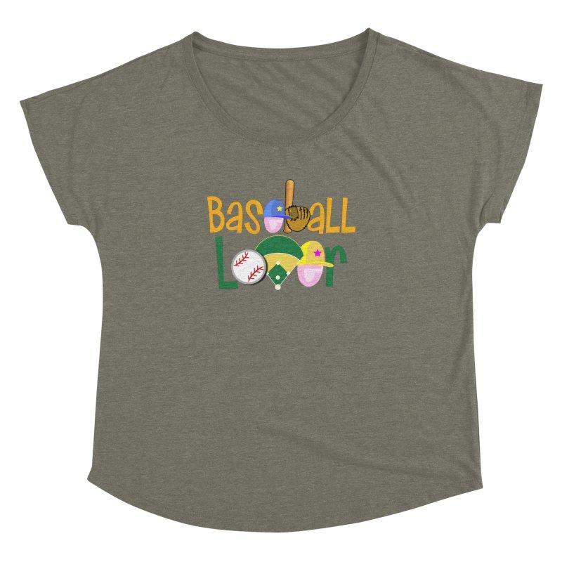Baseball Lover Women's Dolman Scoop Neck by PickaCS's Artist Shop