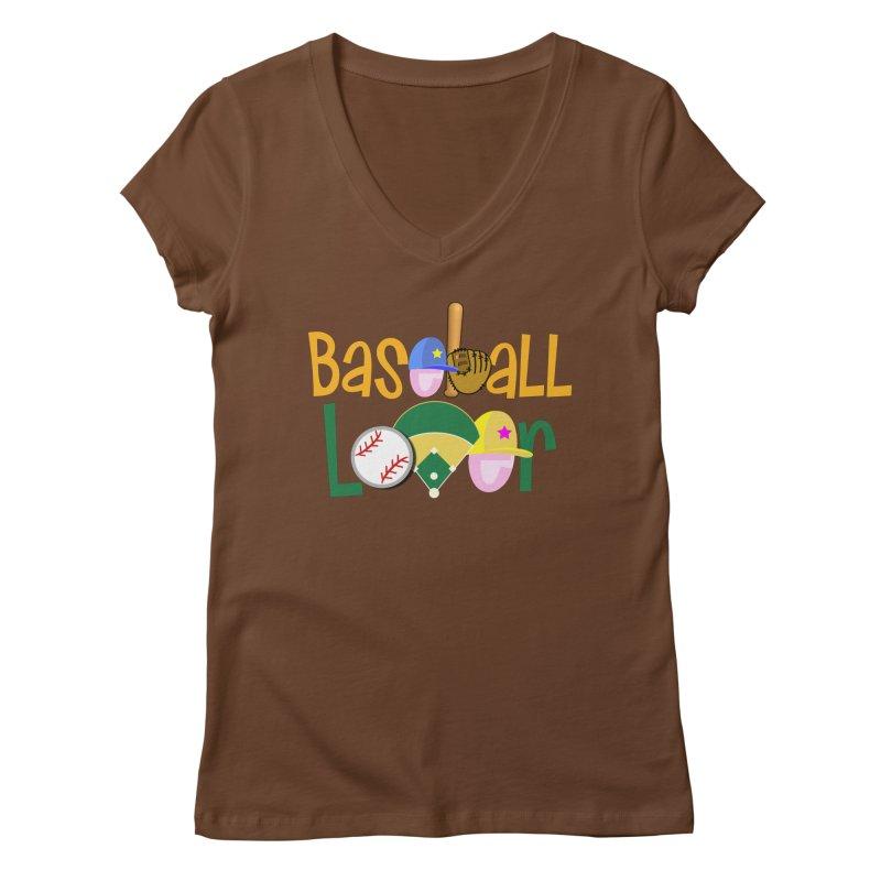 Baseball Lover Women's Regular V-Neck by PickaCS's Artist Shop