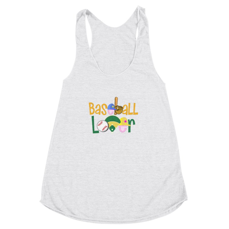 Baseball Lover Women's Racerback Triblend Tank by PickaCS's Artist Shop