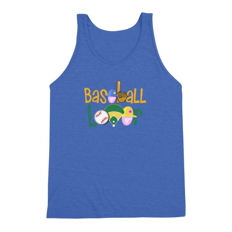 Baseball Lover Men's Triblend Tank by PickaCS's Artist Shop