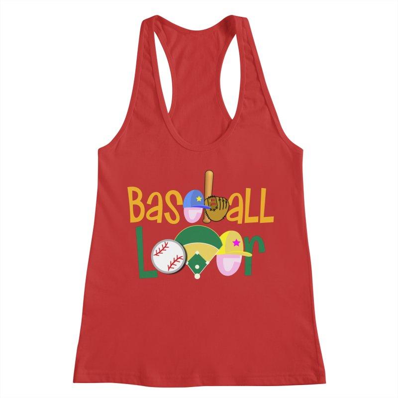 Baseball Lover Women's Racerback Tank by PickaCS's Artist Shop