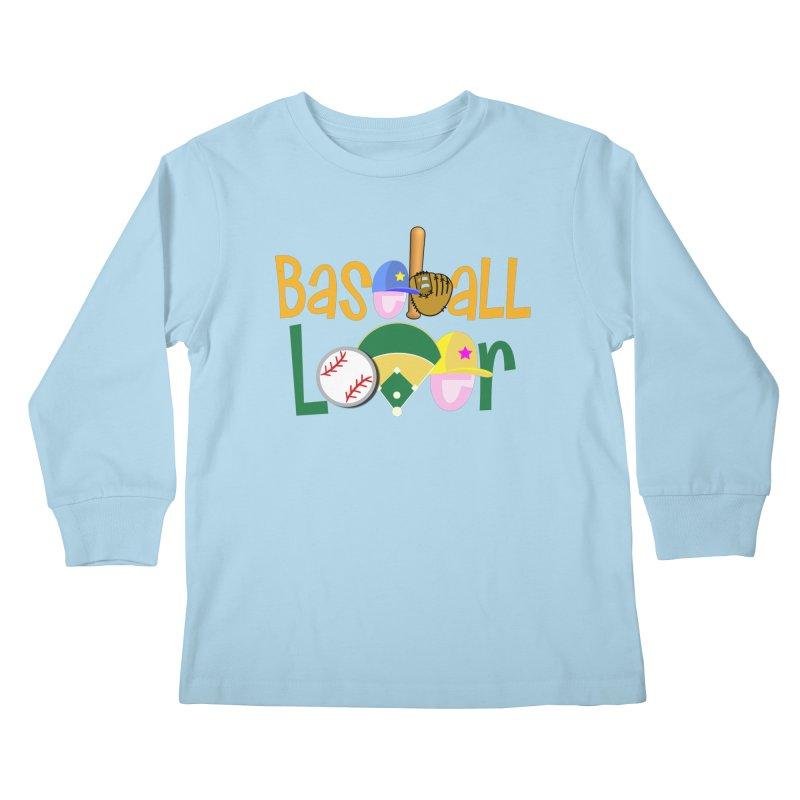 Baseball Lover Kids Longsleeve T-Shirt by PickaCS's Artist Shop