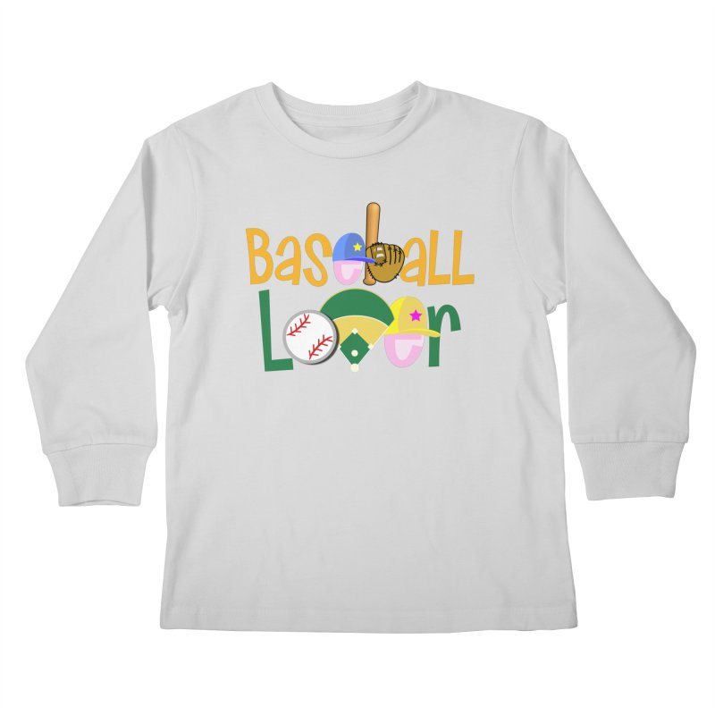 Baseball Lover Kids Longsleeve T-Shirt by PickaCS's Artist Shop