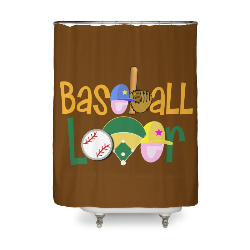 Baseball Lover Home Shower Curtain by PickaCS's Artist Shop