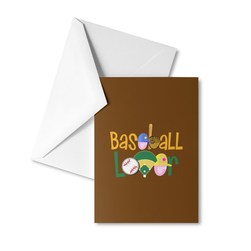 Baseball Lover Accessories Greeting Card by PickaCS's Artist Shop