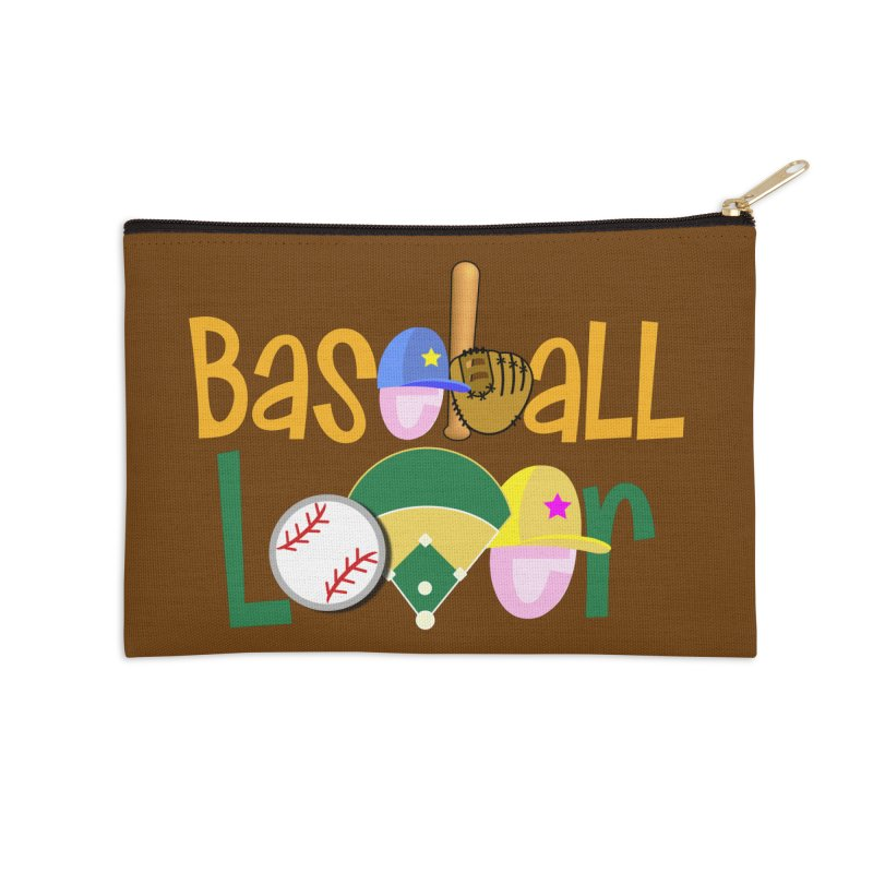 Baseball Lover Accessories Zip Pouch by PickaCS's Artist Shop