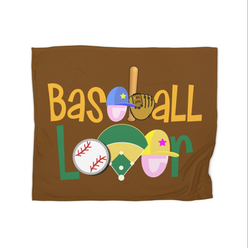 Baseball Lover Home Fleece Blanket Blanket by PickaCS's Artist Shop