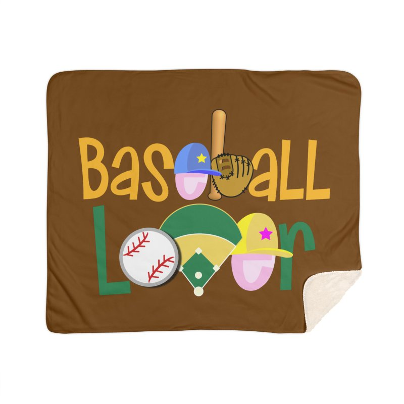 Baseball Lover Home Sherpa Blanket Blanket by PickaCS's Artist Shop