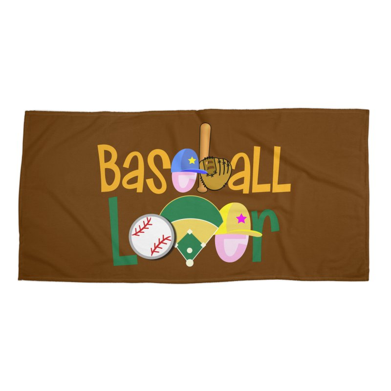 Baseball Lover Accessories Beach Towel by PickaCS's Artist Shop