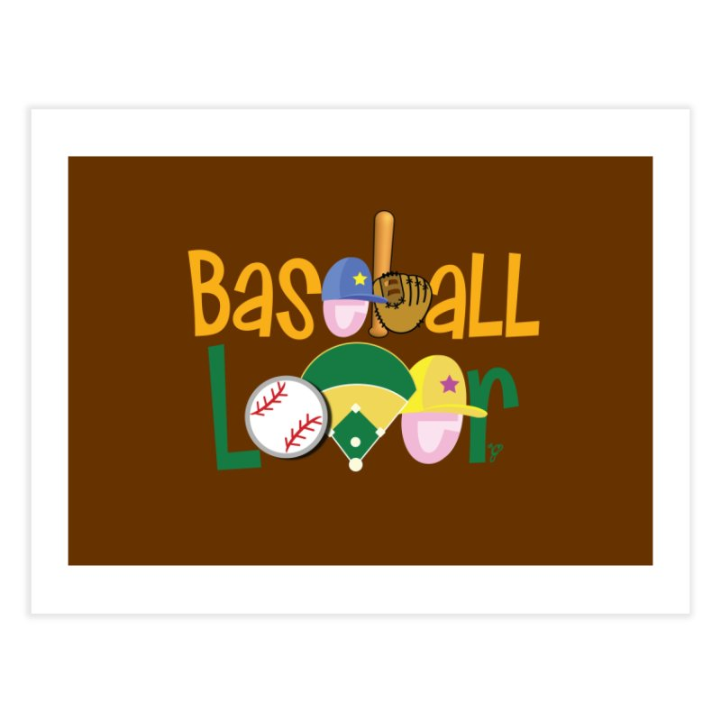 Baseball Lover Home Fine Art Print by PickaCS's Artist Shop