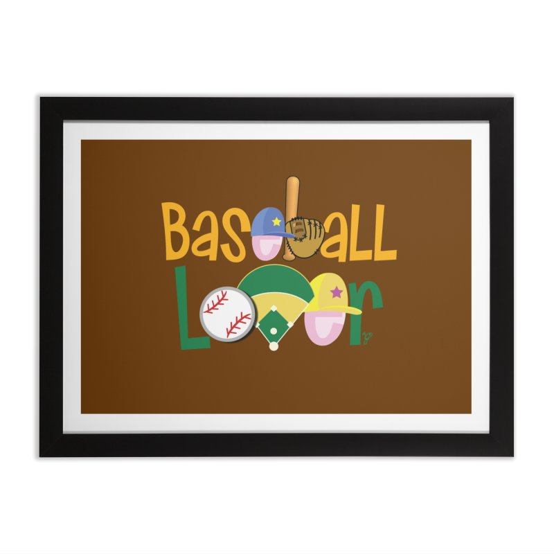 Baseball Lover Home Framed Fine Art Print by PickaCS's Artist Shop
