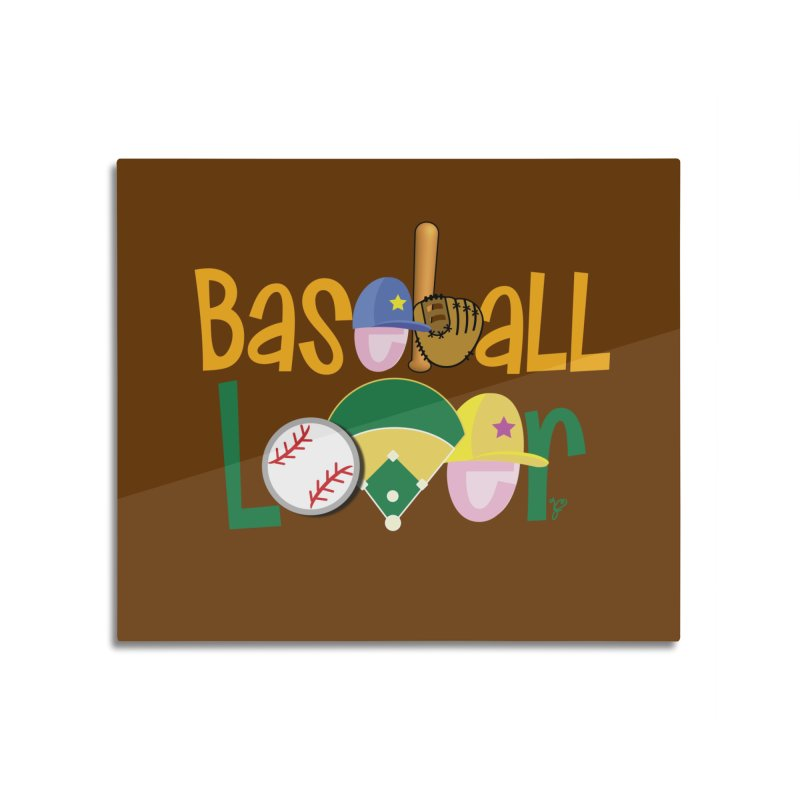 Baseball Lover Home Mounted Aluminum Print by PickaCS's Artist Shop