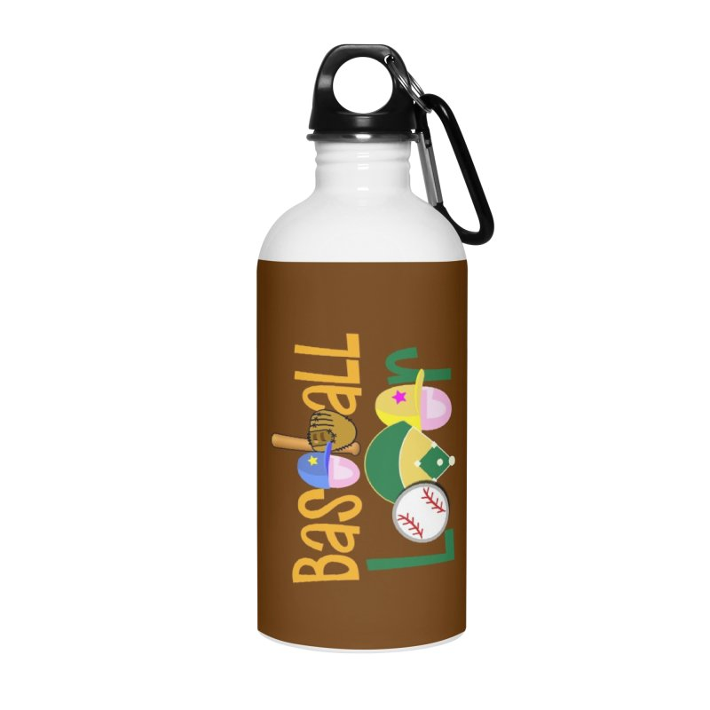 Baseball Lover Accessories Water Bottle by PickaCS's Artist Shop